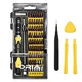 【Neue Version】Oria 64 in 1 Schraubenzieher Set, Magnetic Präzisions Reparatur Werkzeug mit 56 Bits, Professional Tool Kit für iPhone 8/8 Plus, iPad, Macbook, PC, Spielkonsole, Computer - Gelb