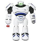 ANTAPRCIS Groß Ferngesteuerter Roboter Spielzeug für Kinder, Intelligente Programmierung RC Roboter mit LED Licht und Musik, RC Spielzeug für Kinder Unterhaltung Kindergeschenk Blau