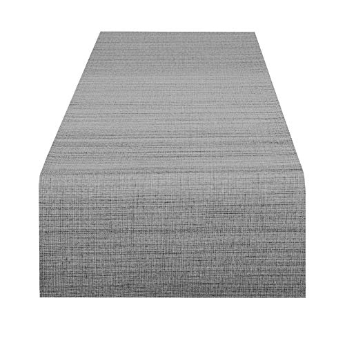 Delindo Lifestyle Tischläufer Samba, anthrazit, 40x140 cm, Fleckschutz, abwaschbar, für Indoor und Outdoor