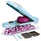 Sedhoom Gemüseschneider mit 3 Austauschbare Klingen,Würfeln,Obst- und Gemüseschneider,Kartoffelschneider für Karotte Kartoffel,Käse,Zwiebel usw.