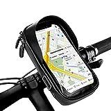 opamoo Fahrrad Rahmentasche Fahrrad Lenkertasche Wasserdicht Fahrrad Handytasche mit Kopfhörerloch,TPU Touchschirm Fahrrad Handytasche Oberrohrtasche für GPS Navi und andere Edge bis 6 Zoll Handy