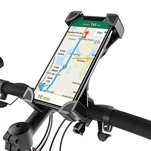 (2018 Neue Version) Fantigo Handyhalterung Fahrrad, Handyhalter Fahrrad Motorrad Universal 360°Drehbarem telefonhalter Fahrrad Fahrrad-Lenker Handyhalter Für for iPhone Android GPS Other Devices(4.0-6.5 Zoll)(Schwarz)