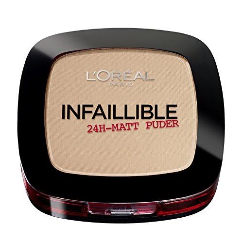 L'Oréal Paris Infaillible Puder, 225 Beige/Kompaktpuder für das perfekte Finish & bis zu 24h Halt/Hautschonendes Powder für alle Hauttypen/1 x 9 g