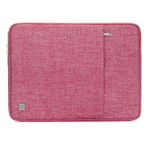 NIDOO 17 Zoll Wasserdicht Laptop Sleeve Case Notebook Hülle Schutzhülle Tasche Laptoptasche Schutzabdeckung für 17.3' HP Pavilion 17 / HP 17/17.3' Dell Inspiron 17, Rot