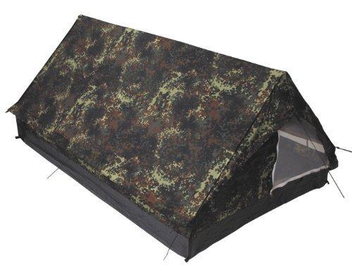 Zelt, 'Minipack', flecktarn, Gr. 213x137x97cm, Moskitonetz