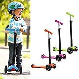 WeSkate MG1 Kinderscooter Kinderroller, höhenverstellbarer und abnehmbarer Lenker Kick Roller Tret-Roller mit PU Rädern, mit 4-blinkenden Rädern, 2-Rädern Hinterbremsen
