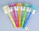 Spülbürste Tassenbürste - ideal für Thermomix  TM5 TM31 und TM21 - mit Nylonborsten (5er Pack (je Farbe 1x) zum Sparpreis)