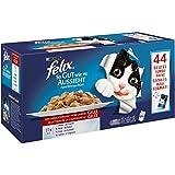 Felix So gut wie es aussieht in Gelee mit Huhn, Rind, Ente, Lamm, Nassfutter für Katzen (44 x 100 g Beutel)
