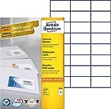 AVERY Zweckform 3474 Universal-Etiketten (A4, Papier matt, 2,400 Etiketten, 70 x 37 mm, 100 Blatt) weiß