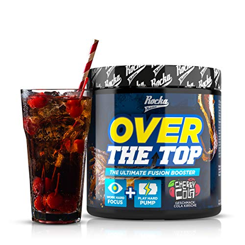 Rocka Nutrition OVER THE TOP Pre Workout Booster Fitness | 2in1 Pump Booster + Fokus Booster - 240 g (Cherry Cola)