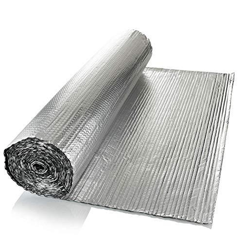 SuperFOIL Allgemein-Folien-Isolierung (1 m x 7 m) – 4 mm doppelschichtiger Hitze-Reflektor für Wände, Böden, Dächer, Wohnmobil und Wohnwagen, 1 Rolle Aluminium-Luftpolsterfolie, silberfarben