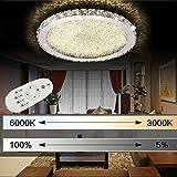 ETiME Deckenleuchte Kristall LED Deckenlampe Rund Wohnzimmer Schlafzimmer Esszimmer Lampe (48W Ø52cm dimmbar)