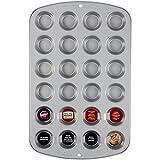 Wilton 2105-914 Recipe Right 24 Cup Mini Muffin Pan Backform, Aluminium, silber, 40 x 25 x 2 cm