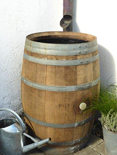 Regentonne, Holzfass, Weinfass, Regenfass, Barrique, Fass, Temesso-Fass 225 Liter inkl. Wasserhahn