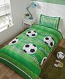 Bettbezug-Set für Einzelbett, Motiv Fußballplatz
