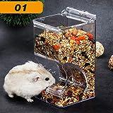 Geggur Automatischer Futterautomat für Hamster,transparent, Acryl-Futter, automatischer Futterautomat, Hamstermaterial, geeignet für kleine Haustiere wie Hamster, Igel, Kaninchen