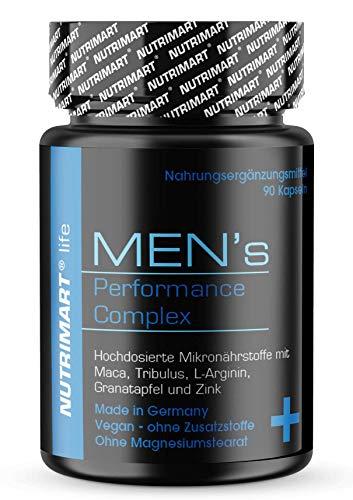 MEN's - Komplex für erwachsene Männer - mit Maca, CordycepsSinensis, Granatapfel, Tribulus terrestris, MuiraPuama, L-Arginin 90 Kapseln