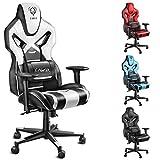Diablo X-Fighter Gaming Stuhl Bürostuhl, verstellbare Armlehnen 4D, Air Mesh, regulierbare Lendenwirbelstütze, Wippfunktion, Kunstlederbezug, Farbwahl (schwarz-weiß)