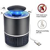 IREENUO Moskito Zapper Mörder USB Ruhe - Elektrischer tragbarer Inneninsekt Mörder USB angetriebenes Weiches Helles Fliegen Insekten Wanze Zapper Schwarz