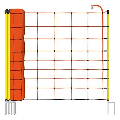 50m Elektrozaun-Netz von VOSS.farming, Schafzaun, Schafnetz, 90cm, 2 Spitzen, orange