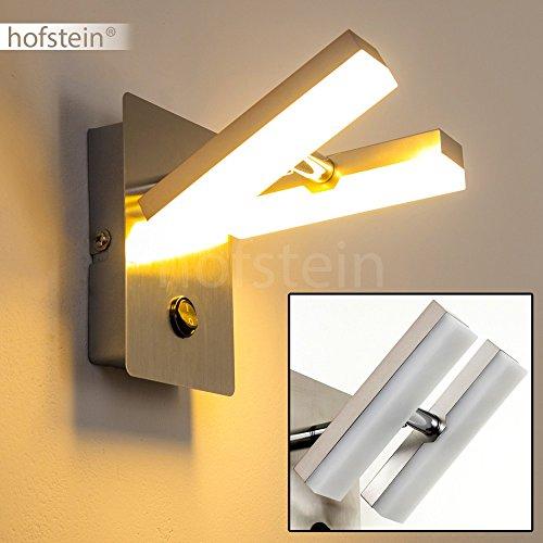 Wandspot LED aus Metall - LED Wandstrahler mit verstellbaren Leuchtköpfen - Lampe mit Schalter für die Wand - Wandstrahler mit einer angenehmen Lichtfarbe in 3000 Kelvin