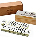 Dominoes - Club Double Six Domino in einer Holzschiebedeckelbox - Jaques of London