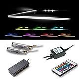 LED Clips für Glaskantenbeleuchtung in RGB 2er Set