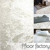 Hochflor Shaggy Teppich Prestige weiß 140x200 cm - superweicher flauschiger Langflor Teppich
