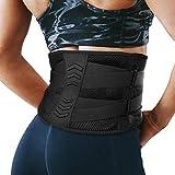Fitself Rückenbandage Herren Damen Fitnessgürtel Atmungsaktiver Verstellbare Zuggurte Bauchweggürtel für Fitnessstudio Laufen Radfahren Basketball Work