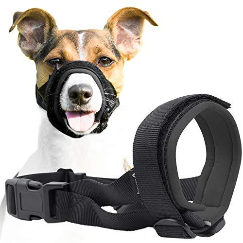 Good Boy Maulkorb für Hunde - Verhindert sicher Bisse und ungewolltes Kauen - Neuer sicherer bequemer Sitz - Weiche Neopren Polsterung - Kein Wundscheuern mehr (S, Grau)