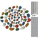 ALPIDEX 60 Klettergriffe mit Befestigungsset, Farbe:Mixed Coloured