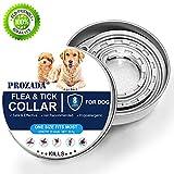 PROZADA [New Formula] Zeckenhalsband für Hunde Wasserdichter, Flohhalsbänder für Hunde Verstellbarer Natürlich & Sicher, 8 Monate Schutz - Wirft Heuschrecken-Laus effizient ab (57cm)
