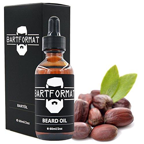 BARTFORMAT Bartöl (60 ml) Geruchsneutral - Bartpflege Öl für einen Weichen Bart - mit Jojoba, Aloe Vera und Kamillen Öl