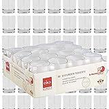 DecoLite Bundle: 48 Teelichthalter Promo (Sandra Rich) & 48 Teelichter mit 8 Stunden Brenndauer (Eika)
