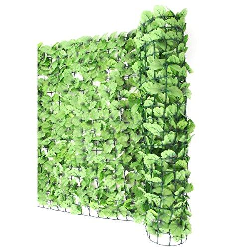 Sichtschutz Windschutz Verkleidung für Balkon Terrasse Zaun ~ Blatt hell 300 x 100 cm