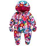 Baby Schneeanzug Spielanzug Winter Overall Reißverschluss Vorne (9-12 Monate)