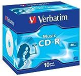 Verbatim CD-R 80 Music Minuten CD-Rohlinge, 10er Pack