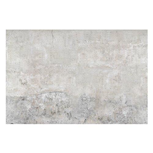 Vliestapete–Beton–Shabby-Stil, einfarbige Betonwand– breite Fototapete für Schlafzimmer oder Wohnzimmer (190x 288cm)