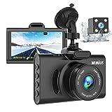 WiMiUS Dashcam Dual Auto Kamera, Super Nachtsicht Vorne 1080P Hinten 720P Full HD Auto Kamera mit 3' IPS Bildschirm,170°Weitwinkelobjektiv, G-Sensor, WDR, Loop-Aufnahme, Parkmonitor (D20)