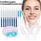 BESTOPE Hochwertiges Teeth Whitening Kit, zu Hause Zahnweiß-Bleichsystem, Zahnreinigung, Professionelle Zahnaufhellung Set, 8 x Whitening Gel, 2 x Desensitizing gel, 1x LED Whitening Light
