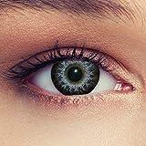 Farbige Kontaktlinsen Grey 3 Monatslinsen ohne Stärke Design: High intensiv Grey