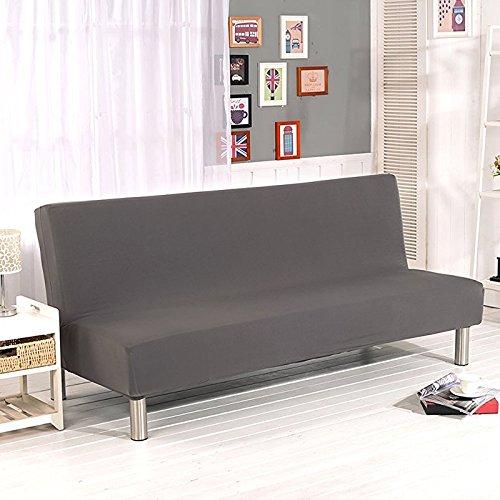 Surenhap Einfarbig Stretch Sofabezüge Schutzhülle ohne armlehnen,Faltbar und Elastisch Sofaüberwurf(Grau)