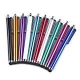Yizhet 10x universal Stylus Stift Touch Pen Eingabestift mit Clip Design für iPhone iPad Samsung Galaxy und alle Smartphone Handy Tablet mit kapazitiven Touchscreen
