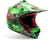 "ARMOR · AKC-49 ""Green"" (Grün) · Kinder-Cross Helm · Sport Off-Road Kinder Moto-Cross Enduro Motorrad · DOT certified · Click-n-Secure Clip · Tragetasche · M (55-56cm)"