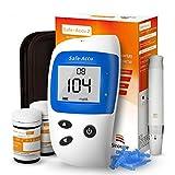 Sinocare Blutzuckermessgerät Set/Codefree Blutzucker-Testkit Safe-Accu2 mit Blutzuckerteststreifen x 50 & schmerzfreie Lanzetten x 50 & Aufbewahrungsbox - mg/dL