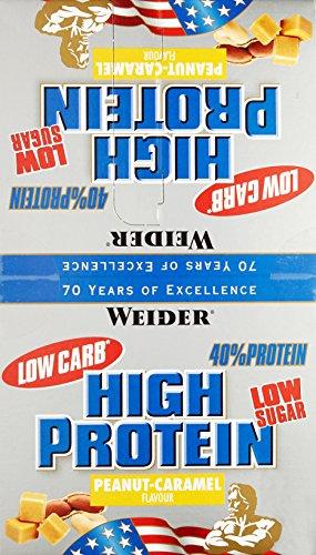 Weider 40% Protein Bar, Erdnuss-Karamell, 1er Pack (20x 100g Riegel)