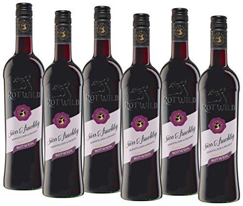 Rotwild Dornfelder& Regent Rotwein Süß & Fruchtig (6 x 0.75 l)