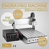 BuoQua Fräsmaschine 3040T CNC Graviermaschine 4 Achsen Mit USB 4MM Engraver Machine Gravur Maschine für Metall Glas Holz Stein