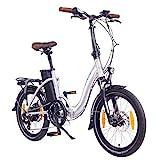"""NCM Paris (+) E-Bike, E-Faltrad, 250W, 36V 15Ah/19Ah • 540Wh/684Wh Akku, 20"""" Zoll (15Ah Silber)"""