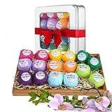Hyden Badekugeln Geschenkset, Badebomben Geschenk mit üppigen Sprudelblasen & hautberuhigenden Inhaltsstoffen, 16 x 60 g Handgemachte Hautpflege